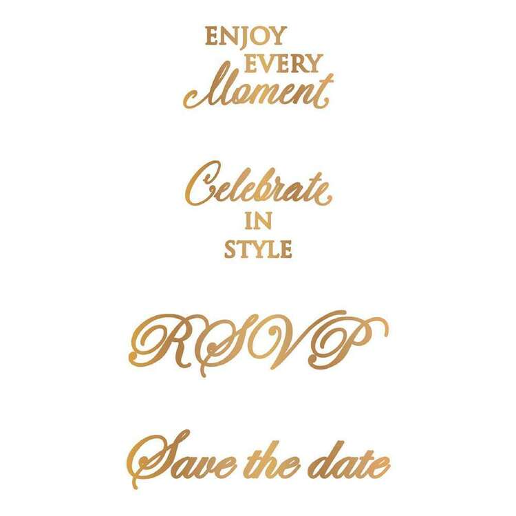 Couture Creations Hot Foil Assorted Stamp