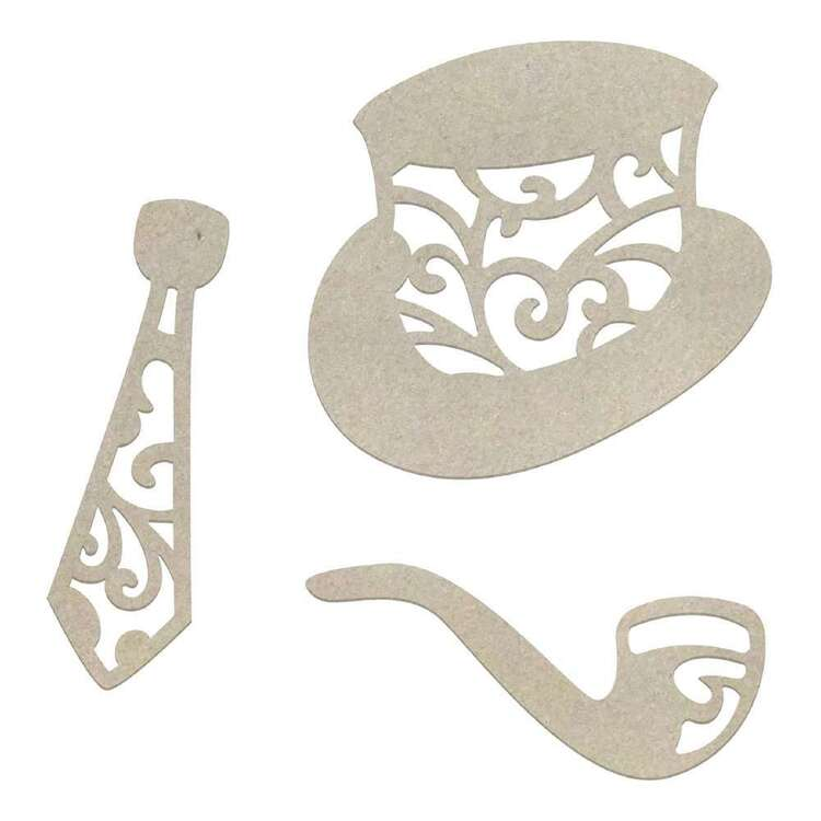 Couture Creations Tie & Hat Chipboard