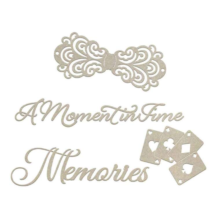 Couture Creations A Moment In Time Memories Chipboard