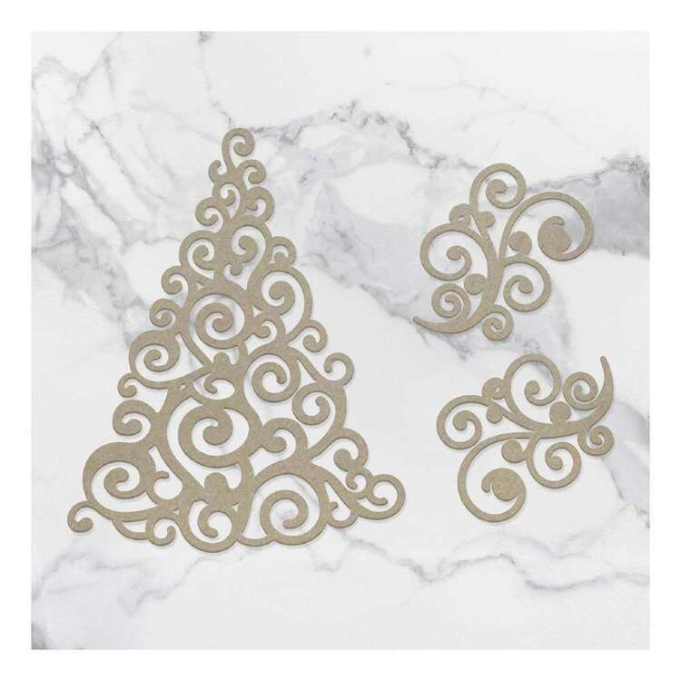 Couture Creations Swirling Christmas Chipboard