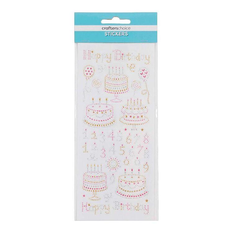 Crafters Choice Happy Birthday Crystal Sticker