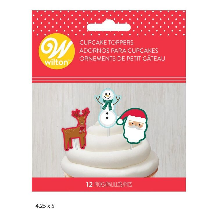 Wilton Christmas Cupcake Toppers 12 Pack