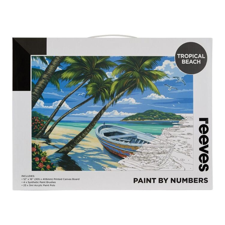 Reeves Paint By Numbers Tropical Beach