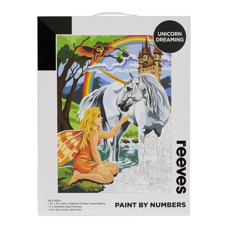 Reeves Paint By Numbers Unicorn Dreaming