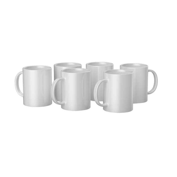 Cricut Mug Press Ceramic Mug 6 Pack