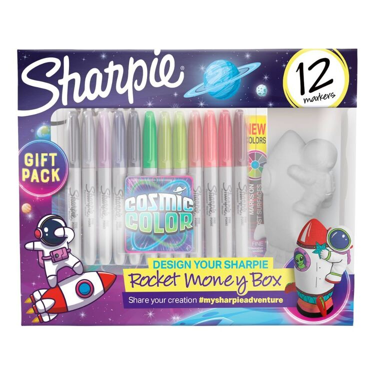 Sharpie Cosmic Rocket Money Box Kit