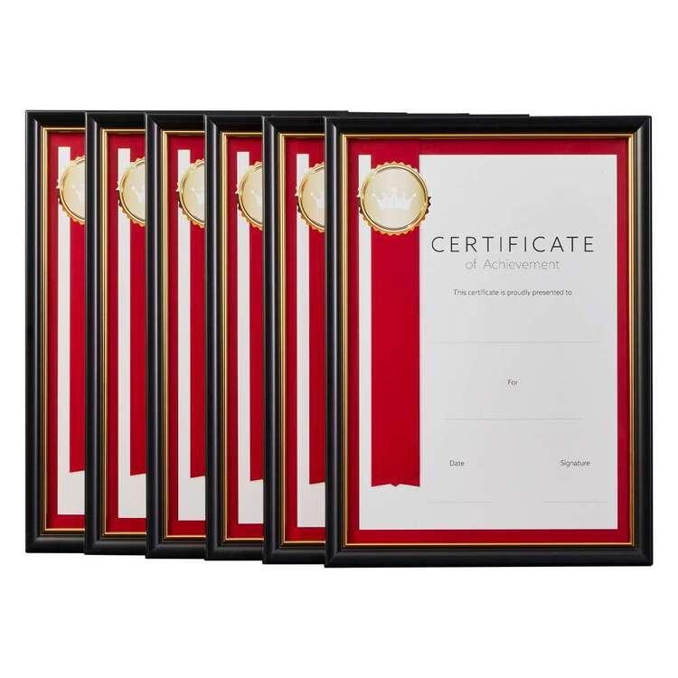 Cooper & Co A4 6 Pack Certificate Frames