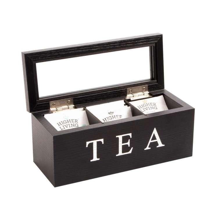 Cooper & Co 3 Compartment Wooden Tea Box
