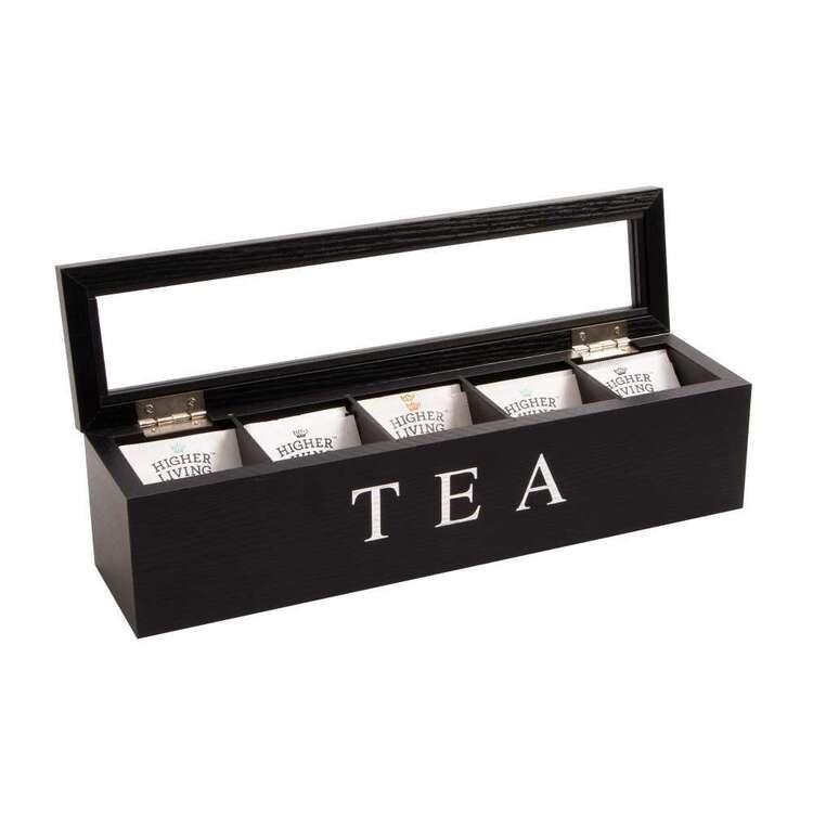 Cooper & Co 5 Compartment Wooden Tea Box