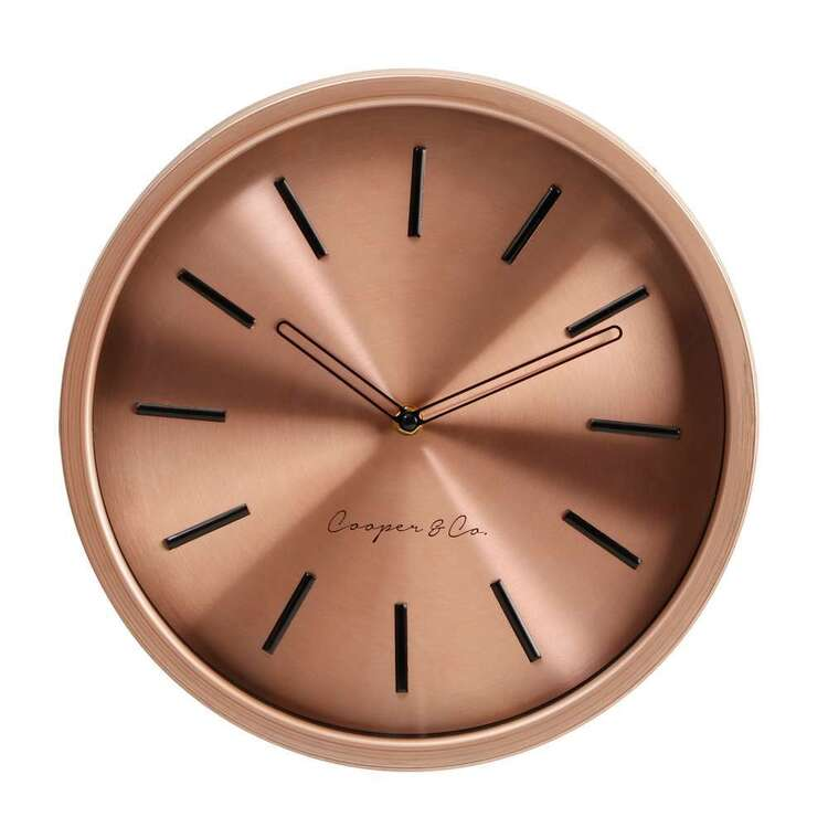 Cooper & Co 29 cm Rose Gold Wall Clock