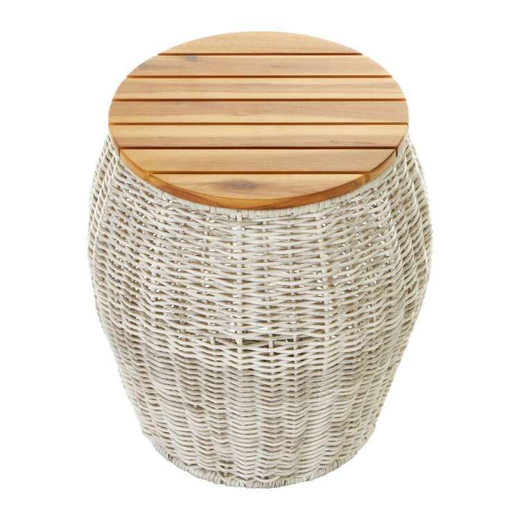 Cooper & Co Rattan Storage Basket With Seat