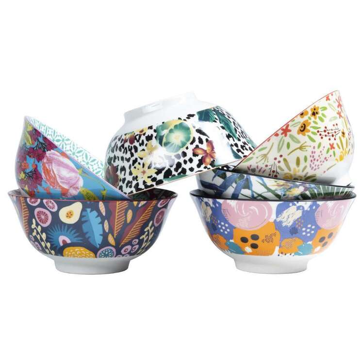 Cooper & Co Small Floral Bowls Set Of 6 Designs