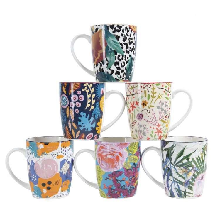 Cooper & Co Floral Mugs Set Of 6 Designs