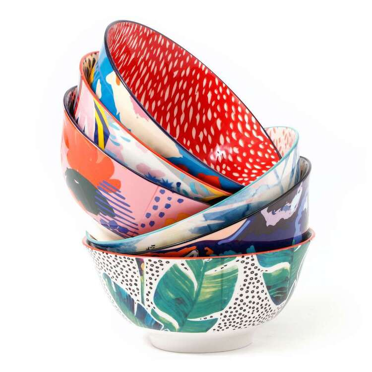 Cooper & Co Garden Lifestyle Large Bowls Set Of 6 Designs