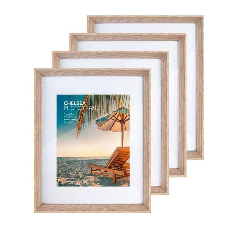 Cooper & Co Set of 4 Chelsea 28 x 35 cm Oak Frames