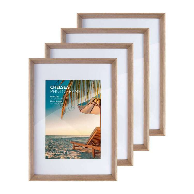 Cooper & Co Set of 4 Chelsea A3/A4 Oak Frames