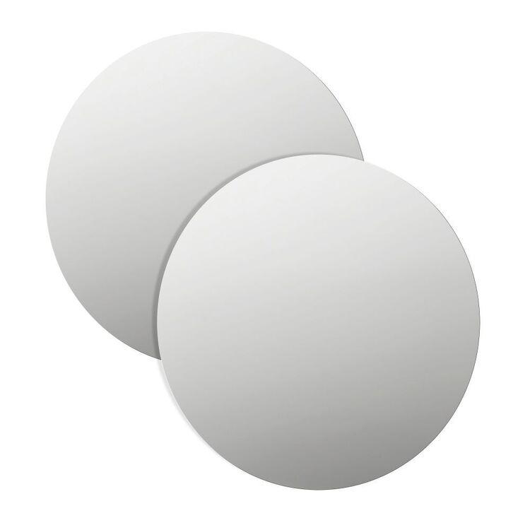 Cooper & Co Set Of 2 Round Mirror Tiles