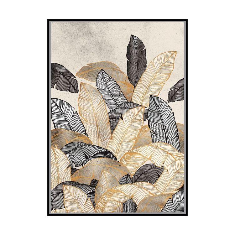 Cooper & Co Tinted Leaves Framed Print
