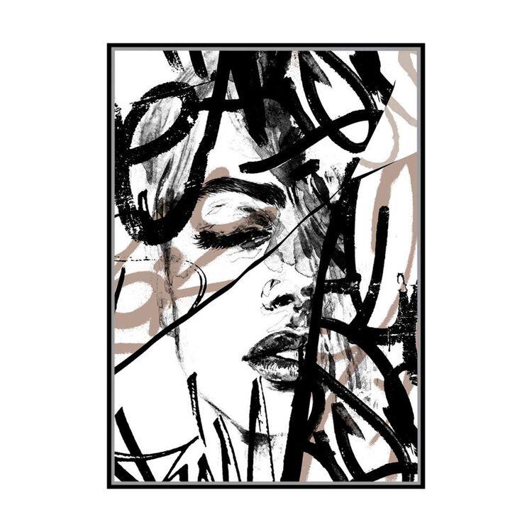 Cooper & Co Silent Noise Framed Print
