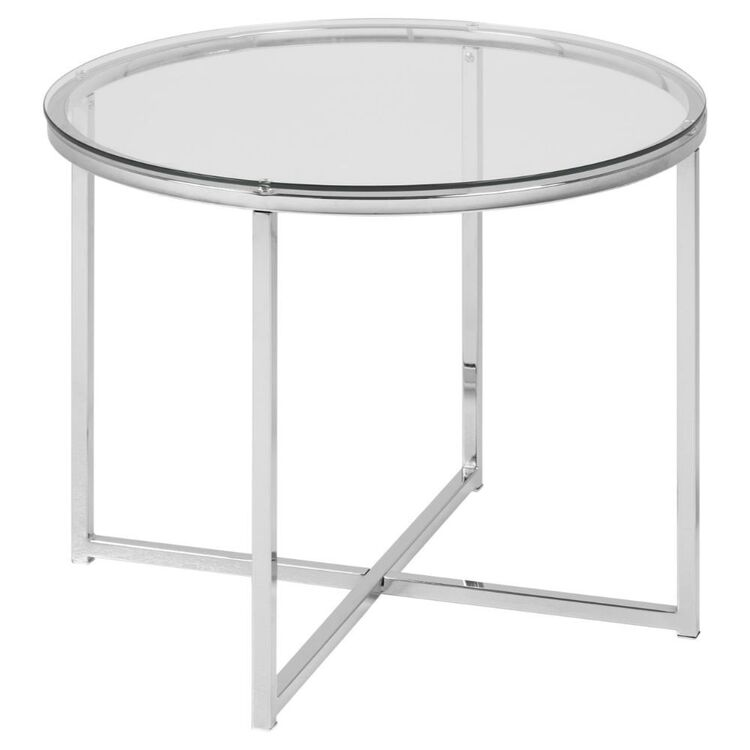 Cooper & Co Orlando Round Glass Top Coffee Table