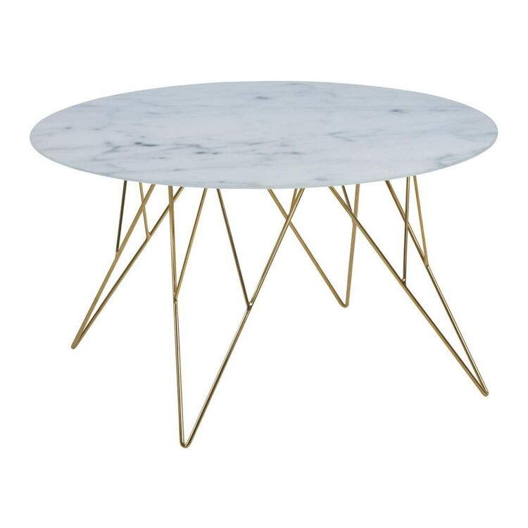 Cooper & Co Madison Marble Style Glass Coffee Table
