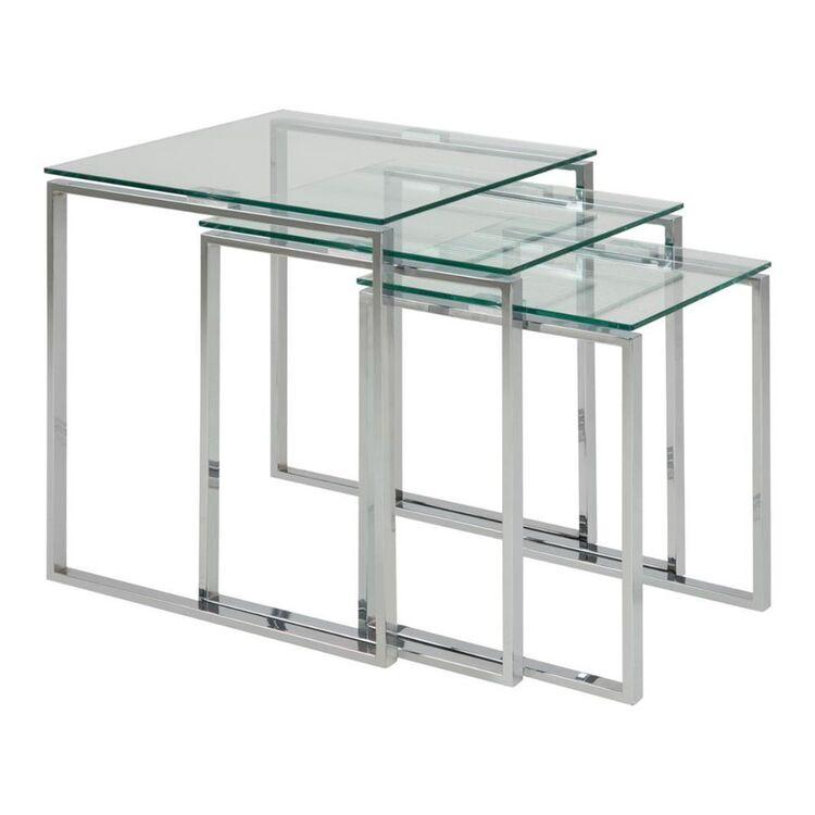 Cooper & Co Set of 3 Manhattan Glass Nesting Tables