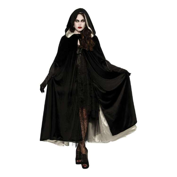 Reversible Black And White Cape