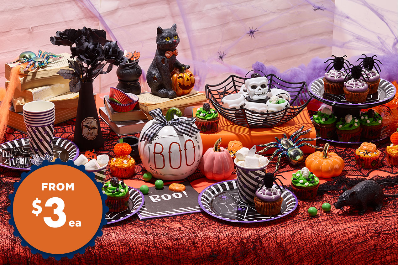 Halloween Baking & Tableware From $3