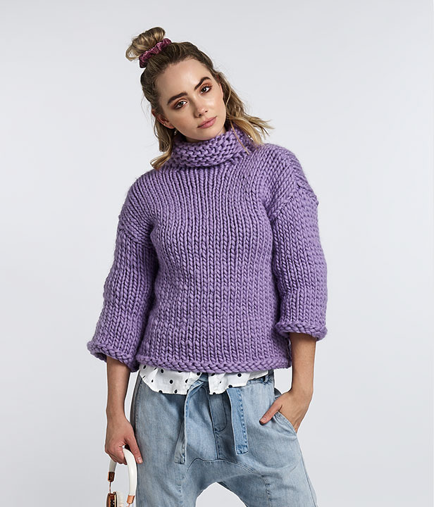 Born To Be Wool Oversized Jumper