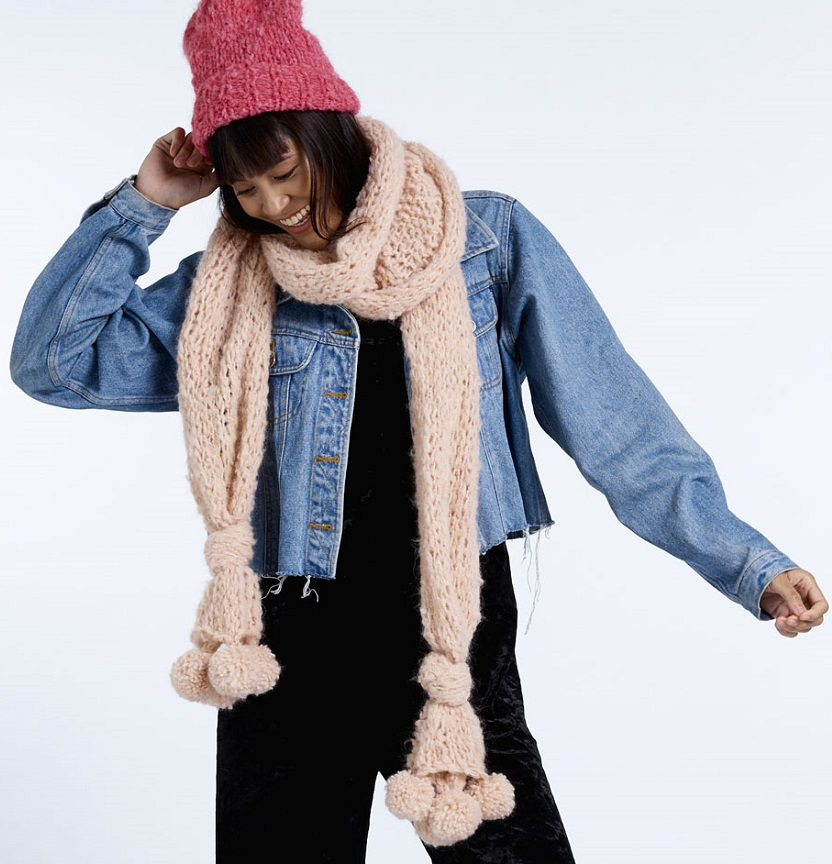 Abbey Road Truly Madly Mohair Bobble Scarf & Beanie Project