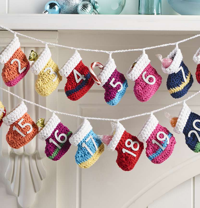Advent Calendar Booties Project