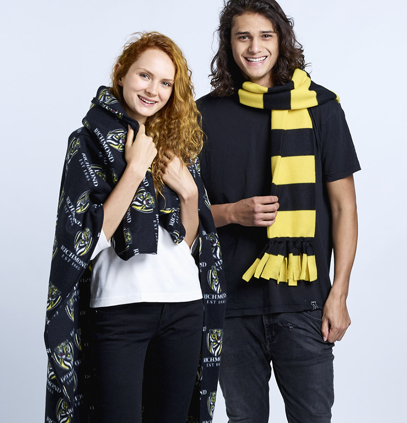 AFL Stripe Scarf & Pillow Blanket Project