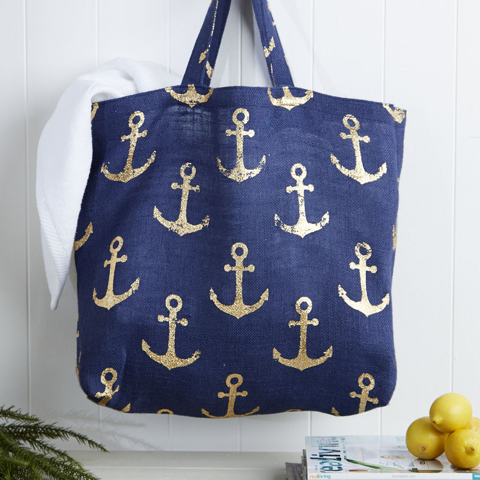 Anchor Hessian Bag Project