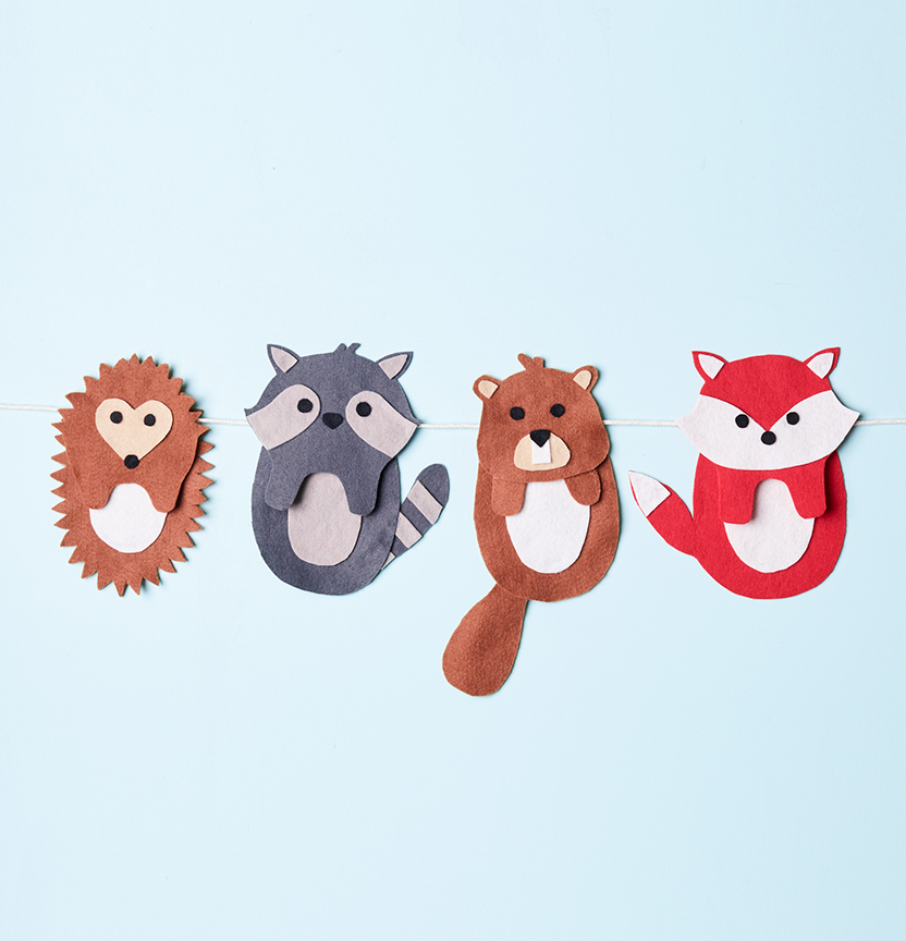 Animal Felt Garland Project