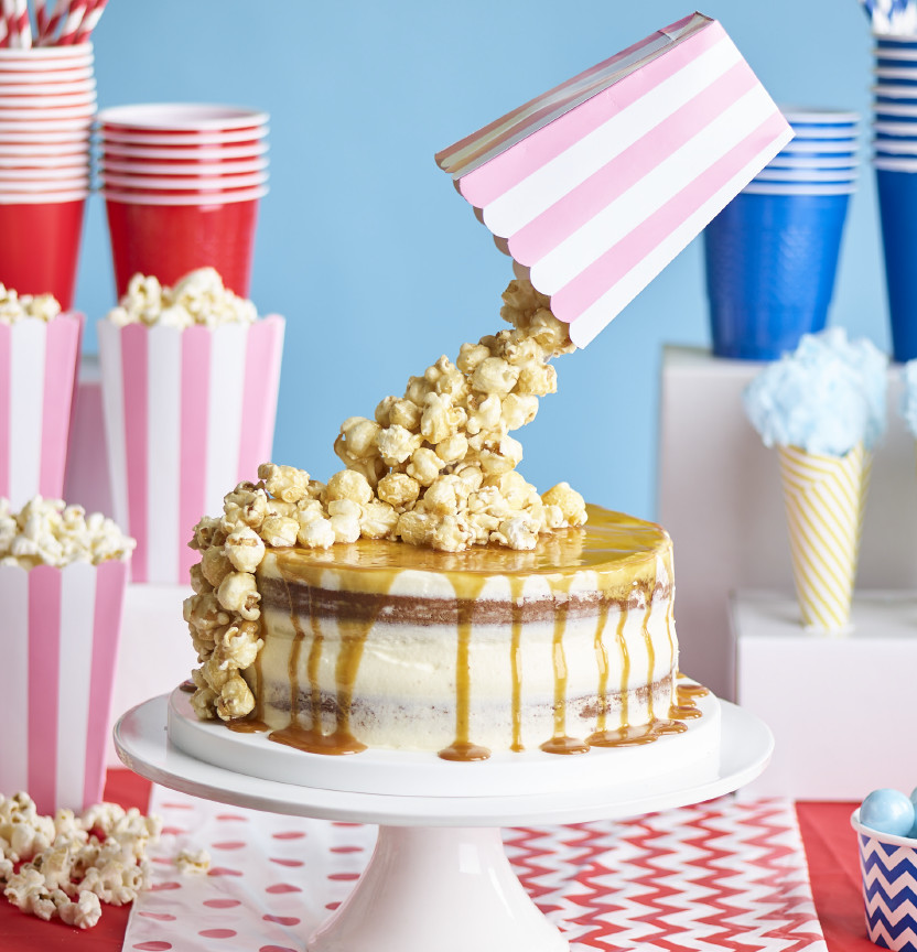 Anti Gravity Popcorn Cake Project