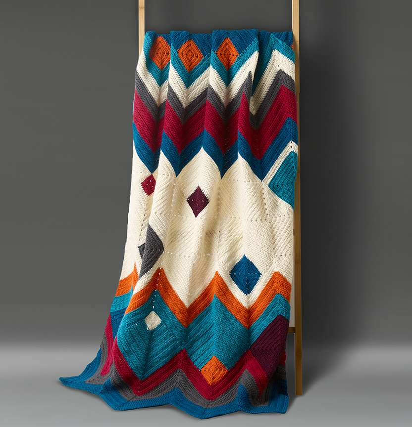 Art Deco Throw Project