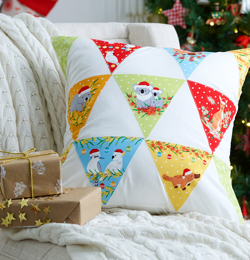 Aussie Christmas Bunting Cushion Project
