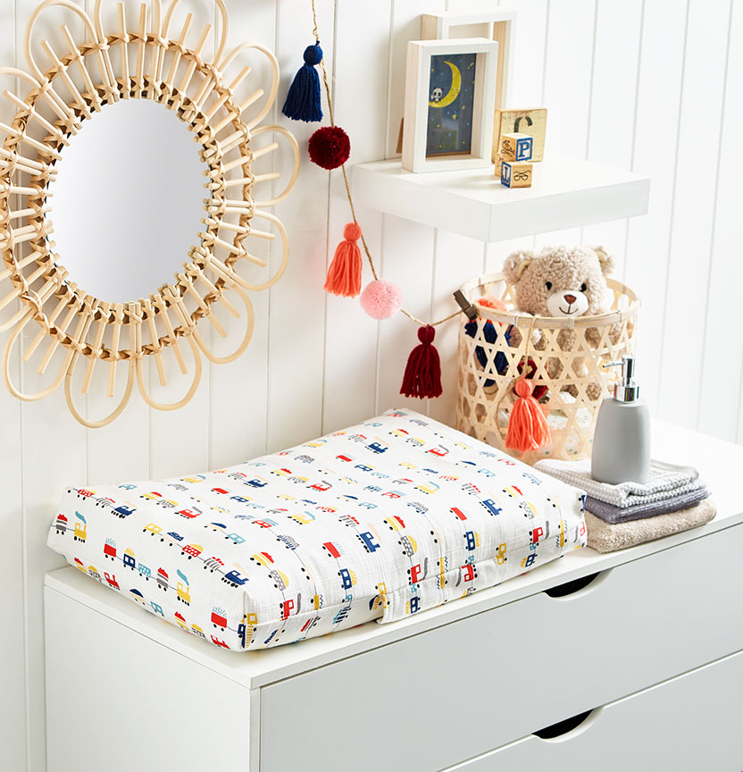 Baby Change Table Mattress Cover Project