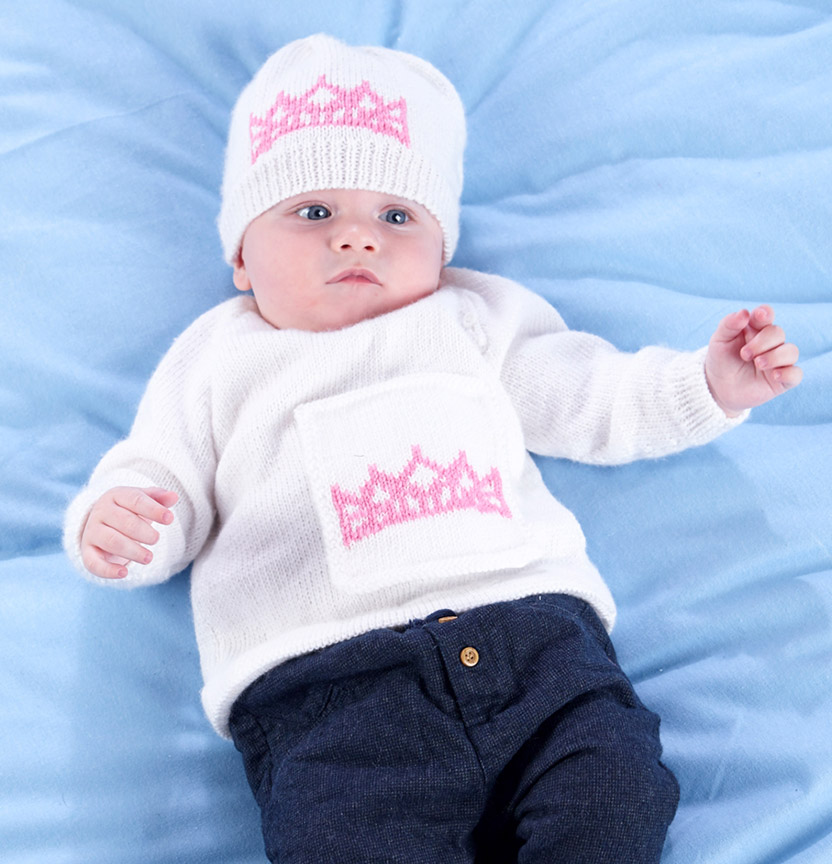 Baby Princess Jumper & Hat Project