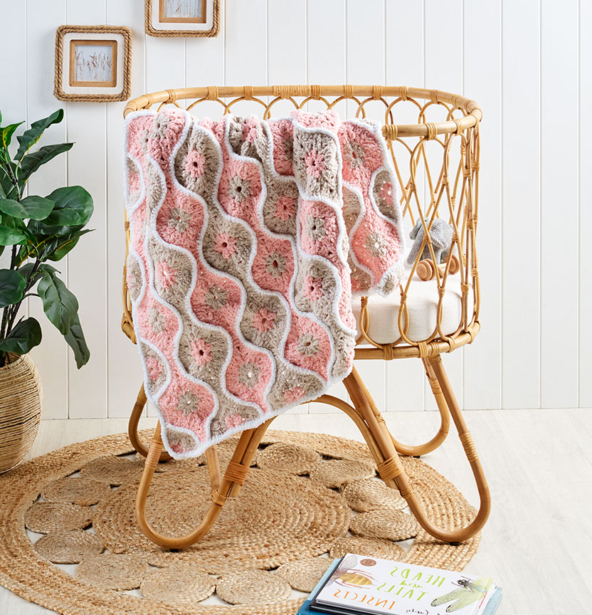 Bella Baby Baby Crochet Chenille Throw Project