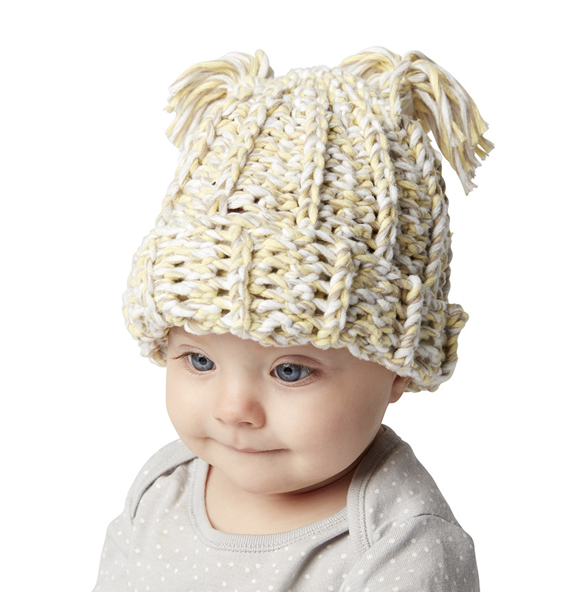 Bernat Baby Marly Crochet Beanie Project