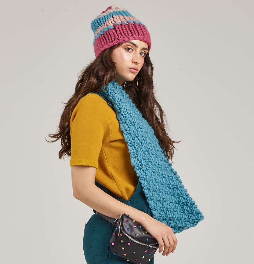 Born To Be Wool Beanie & Scarf Project