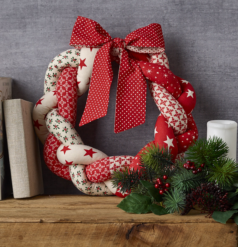 Braided Christmas Wreath Project
