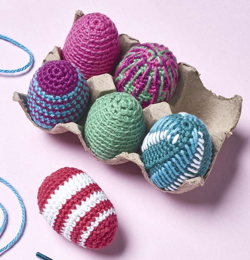 Brighton Cotton Blend 8Ply Crochet Easter Eggs Project