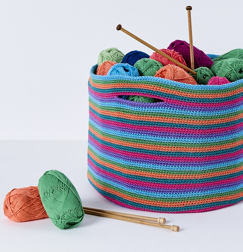 Brighton Cotton Blend Rainbow Basket Project