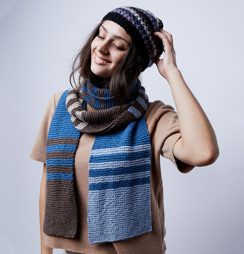 Brighton Cotton Striped Scarf Project