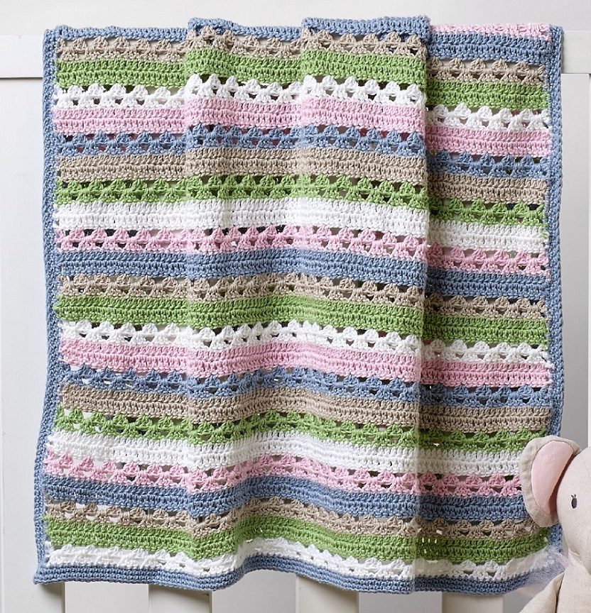 Brighton Pastel Crochet Pram Blanket Project
