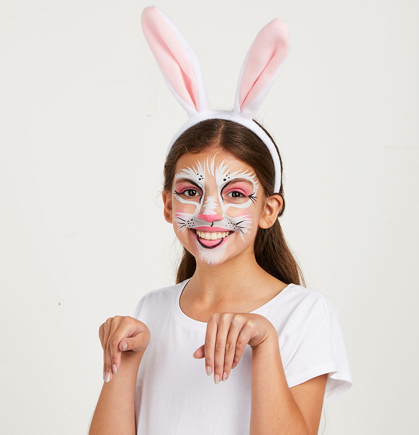 Bunny Face Paint Project