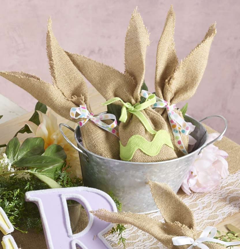 Burlap Bunny Treat Bags Project