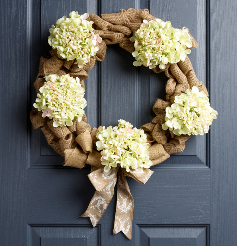 Burlap Wreath Project